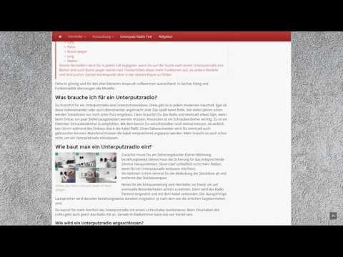 Unterputz-Radios.de - Ratgeberportal für den Sound im Schalterdesign