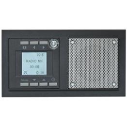 Klein Unterputz Radio 860862, anthrazit