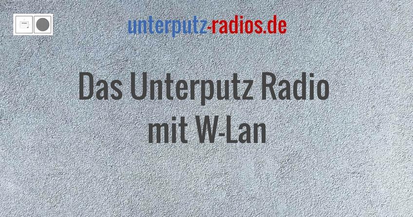 Das Unterputz Radio mit W-Lan
