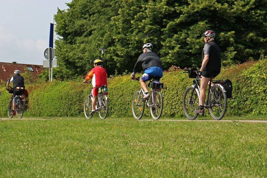 Unterhaltung für die ganze Gruppe mit einem Fahrradradio