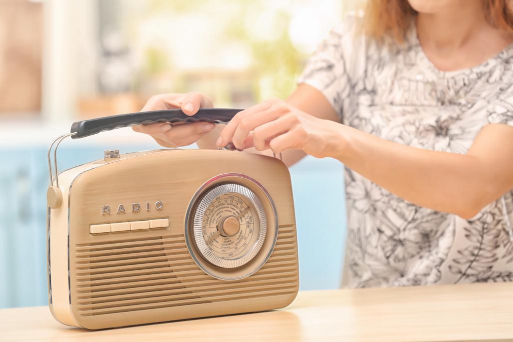 Bedienung des Retroradio